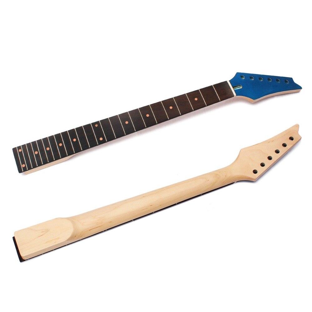 Nouveau STSQ Guitare Électrique Manche Érable 21 22 Poignée Tête Avec des Nervures de Renfort Touche Guitare Cou pour Électrique Guitare