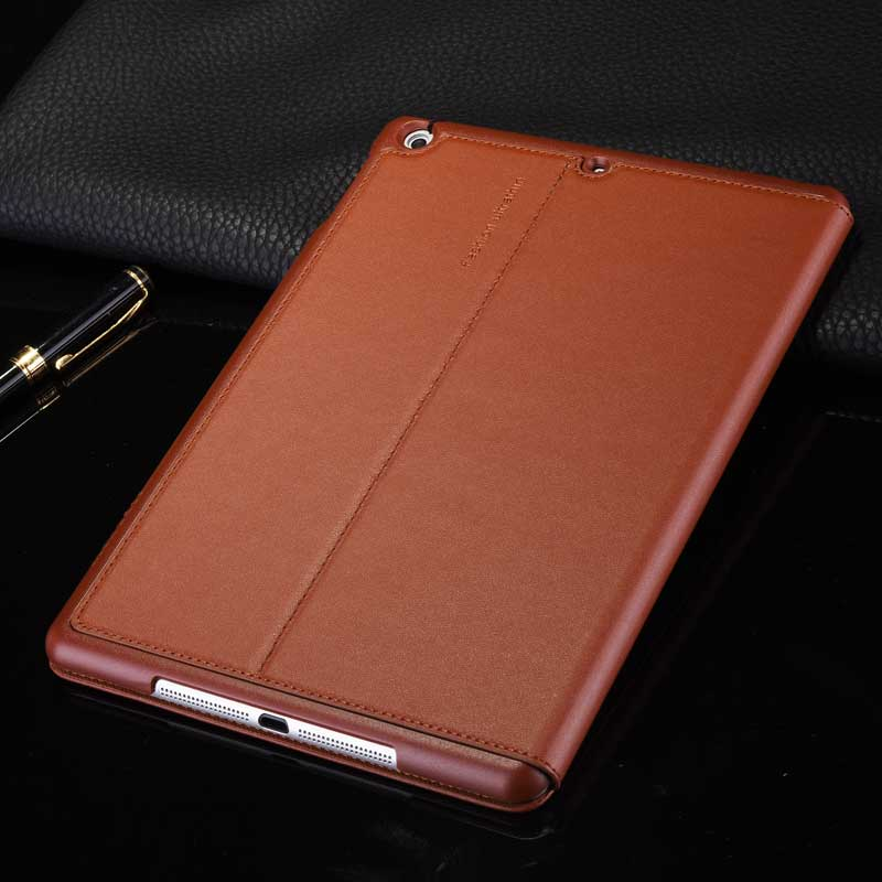 Top Grade Business Cowhide Genuine Leather Case for iPad 2 3 4 Real Leather Stand Smart Cover for Apple iPad4 iPad3 iPad2 9.7