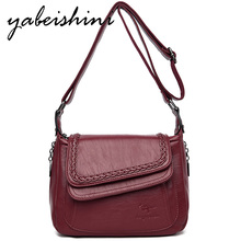 2019Women's bags High quality leather Small Square Bag Sac A Main Woman Casual Shoulder Bag Fashion Handbag Female Messenger Bag woman bag material is a high quality varnish faux leather