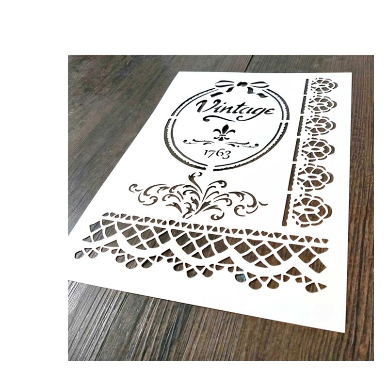 1piece A4,Vintage Stencil For Painting,Lace Template,Lace Border For Home Decor,Stamp
