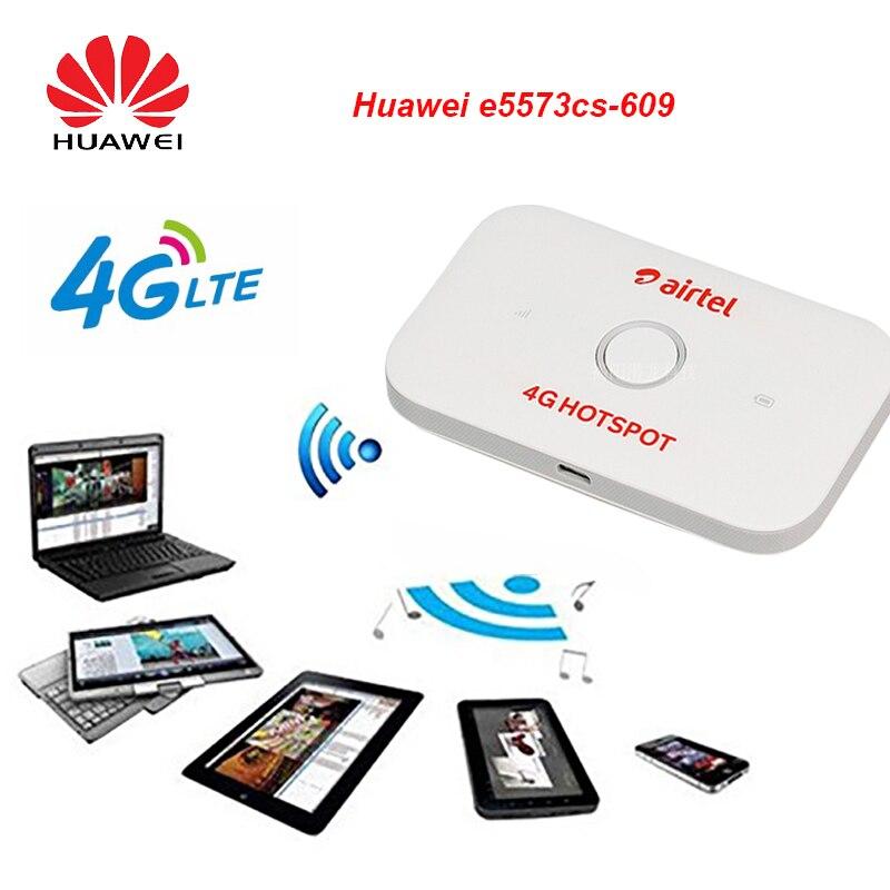 Original Unlocked Huawei E5573cs 609 4G font b Router b font Portable WiFi Car WiFi Modem