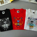 2016 tigre verão família projeto roupa roupas camiseta de manga curta da cópia do tigre para a família tops T crianças mãe moda Tees