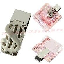 M112Dollar Design Slim Money Clip Stainless Steel Cash Bills Credit Card HolderFree Shipping wholesale/retail