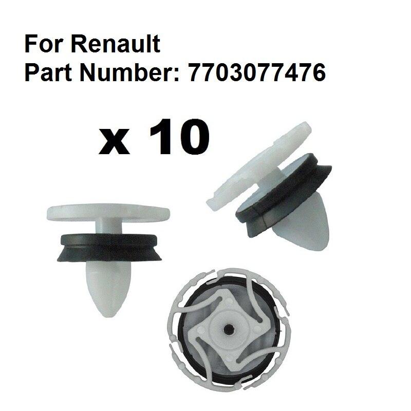 RENAULT DOOR CARD /& BODY PANEL TRIM LINNING FASTENER CLIPS