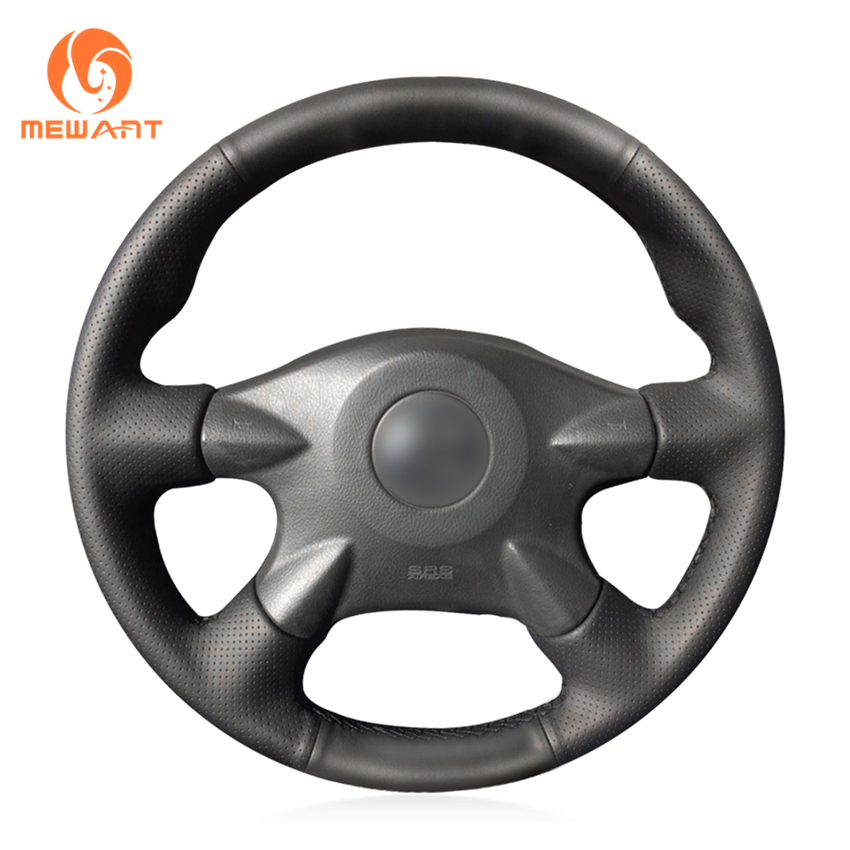 Black Artificial Leather Car Steering Wheel Cover for Nissan Almera N16 Pathfinder Primera XTrail 2001-2006 Renault Samsung SM3 набор автомобильных экранов trokot для nissan almera n16 2000 2006 на заднюю полусферу 3 предмета tr0551 09