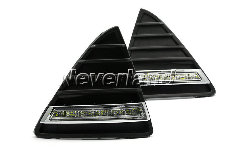 ФОТО 2pcs/Set Auto Car DRL LED Daytime Running Light For Ford Focus 2012 2013 Fog Turn Signal Lamp Wholesale D10