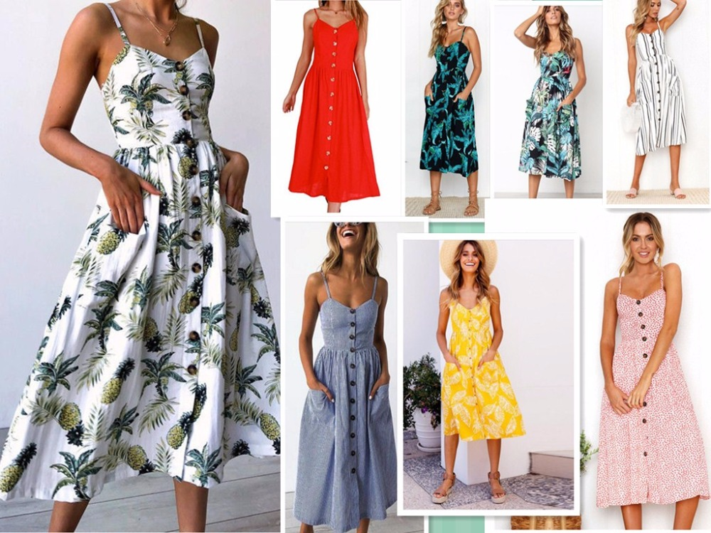 Drop shipping beach summer dresses Floral print Vintage chiffon white maxi dress vestidos de festa