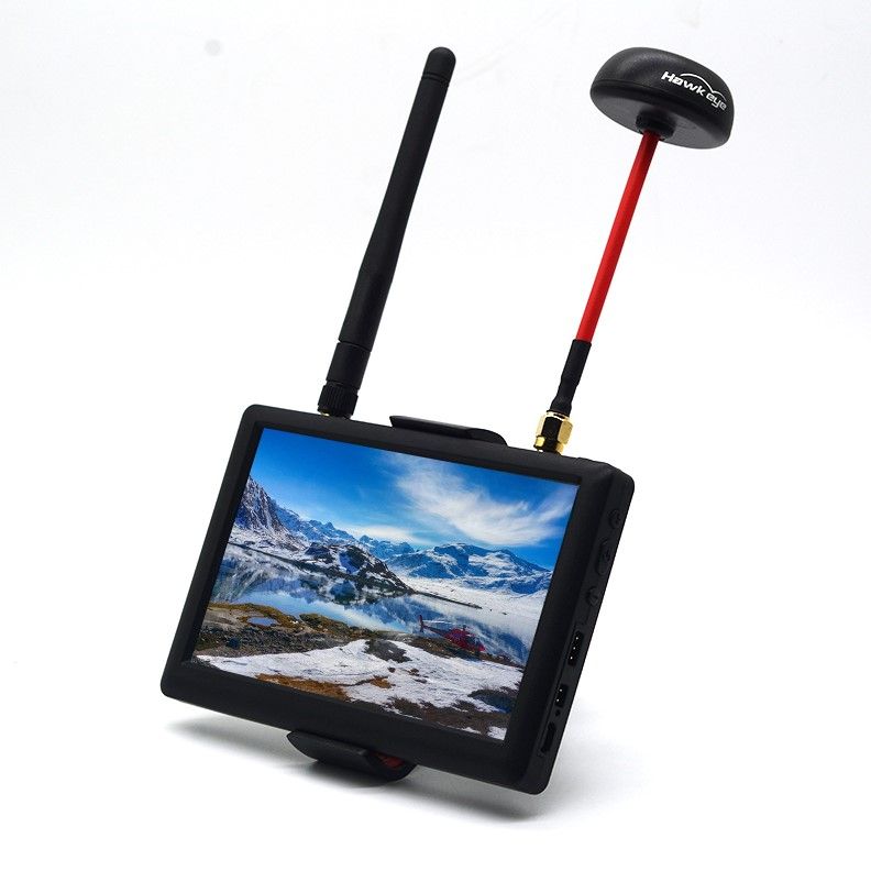 1Set Hawkeye Little Pilot 5.8G Aerial Photography HD Snowflake Display Double Reception Display Screen for FPV Racing Drone free shipping hawkeye hawk eye little pilot 5 inch hd fpv snowflake display built in 5 8g receiver for fpv kvadrokopter
