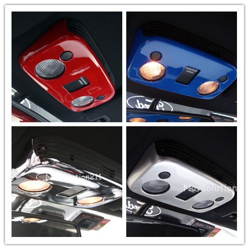 Car Front Reading Light Cover Trim For Ford Mustang 2015 2016 2017 kingsun front camber caster coilovers alignment kit plate for ford mustang 79 89 adjustable steel