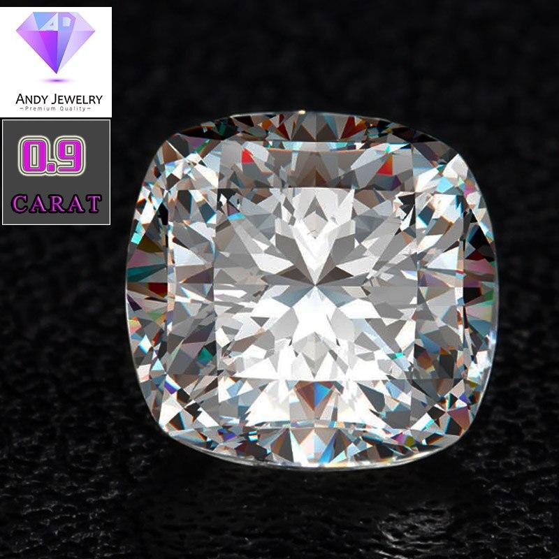 6*6mm DEF taille coussin Blanc Laboratoire Moissanite Pierre Lâche 0.9 carat Moissanite Diamant