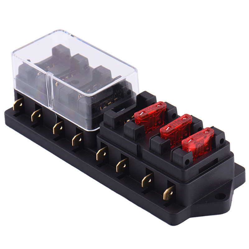 12v 8 way fuse block holder box car vehicle circuit automotive blade Fuse Block Marine Applications and 12v 8 way fuse block holder box car vehicle circuit automotive blade with 15pcs fuse accessory in fuses from automobiles & motorcycles on aliexpress com at Fuse Types of Blocks