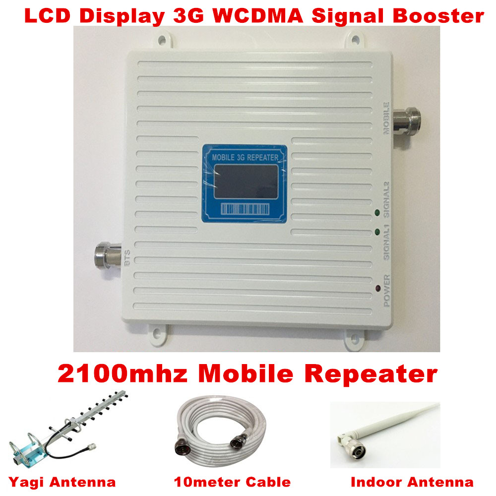 13dBi Yagi Antenna With Cable 3G Repeater W-CDMA 2100Mhz Mobile Phone UMTS Signal Booster 3G WCDMA Signal Repeater Amplifier