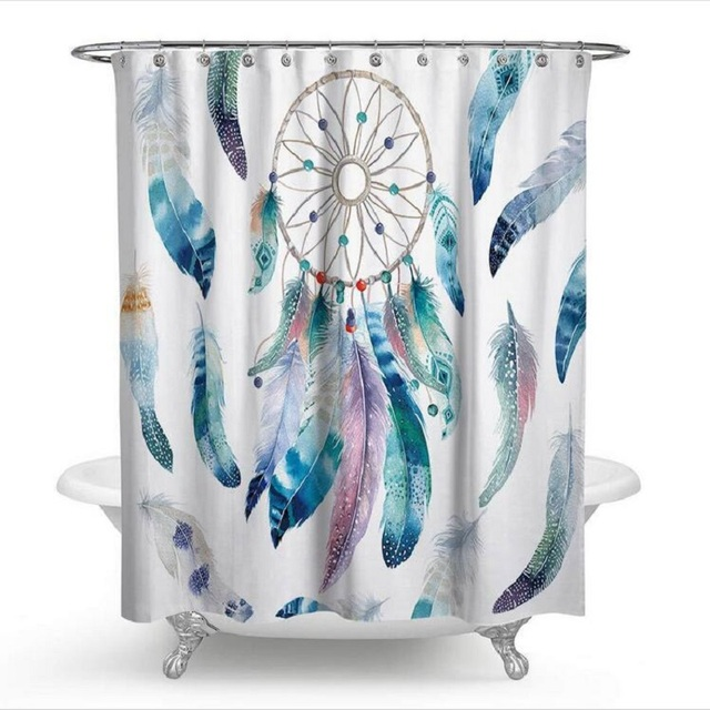 Dreamcatcher Feather Shower Curtains Rideau De Douche Cortina Ducha Bathroom Supplies Products H250