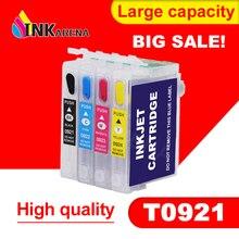 Refillable патрон чернил для принтера EPSON T26 T27 TX106 TX109 TX117 TX119 C51 C91 CX4300 принтер T0921 921N 92n пополнения чернил совместимый чернильный картридж с чипом