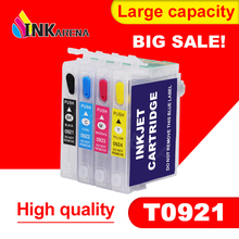 Refillable Ink Cartridge for EPSON T26 T27 TX106 TX109 TX117 TX119 C51 C91 CX4300 Printer T0921 921N 92n Refill With Chip