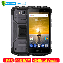 Ulefone Armor 2 6GB RAM 64GB ROM Waterproof IP68 Mobile Phone 5.0 inch FHD MTK6757 Octa Core Android 7.0 16MP Cam 4G Smartphone (China)