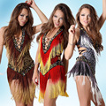 2016 Сексуальная Дешевые Латинский Танец Платье Женщины Профессиональный Латинской Юбка Самба Танцы Латинской Сальса Платья