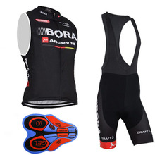 2018 BORA Sleeveless cycling Jerseys bike maillot ciclismo cycle clothing quick dry men's summer bicycle clothes sportwear K29