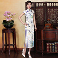 Short Sleeve Top Quality Chinese Style Dresses Cheongsam Gown Chinese Dress Long Cheongsam Lace Qipao Long