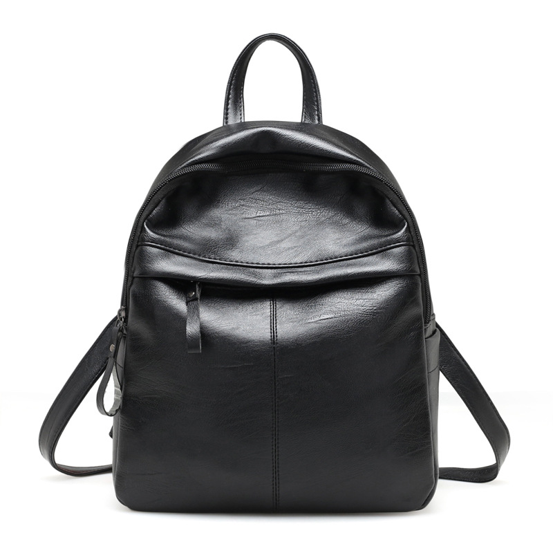 Backpack Women Leather Bag High Quality Zipper Solid Color Fashion Casual Schoolbag For Girls Mini Women Backpack Schoolbag 2019