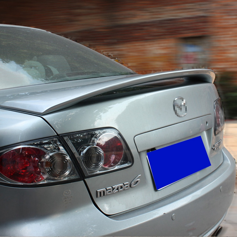 MONTFORD ABS Plastic Unpainted Tail Wing Rear Trunk <font><b>Spoiler</b></font> For <font><b>Mazda</b></font> <font><b>6</b></font> <font><b>Spoiler</b></font> 2006 2007 2008 2009 2010 2011 2012 2013 2014 image
