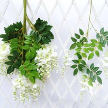 12pcs/lot Wisteria Artificial Flower Vine For Wedding Party Kids Room Home Art D