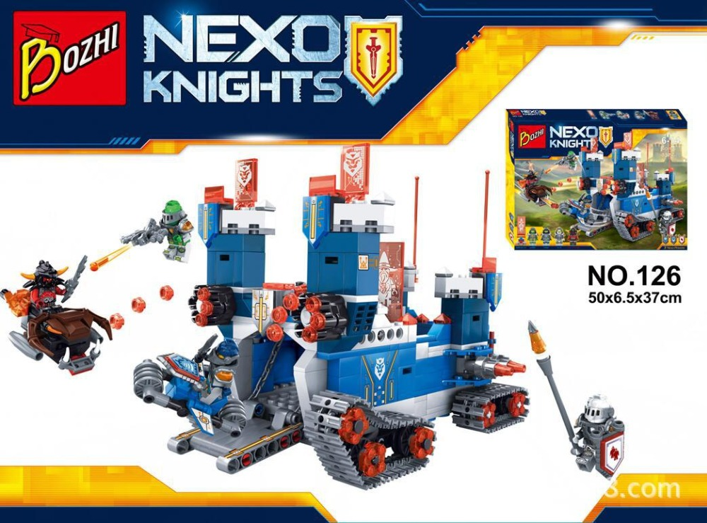 Nexo Knights The Fortrex Moving Castle Marvel Nexus Building Blocks Kids Toys Christmas Gift Minifigures Compatible Lepin 70317