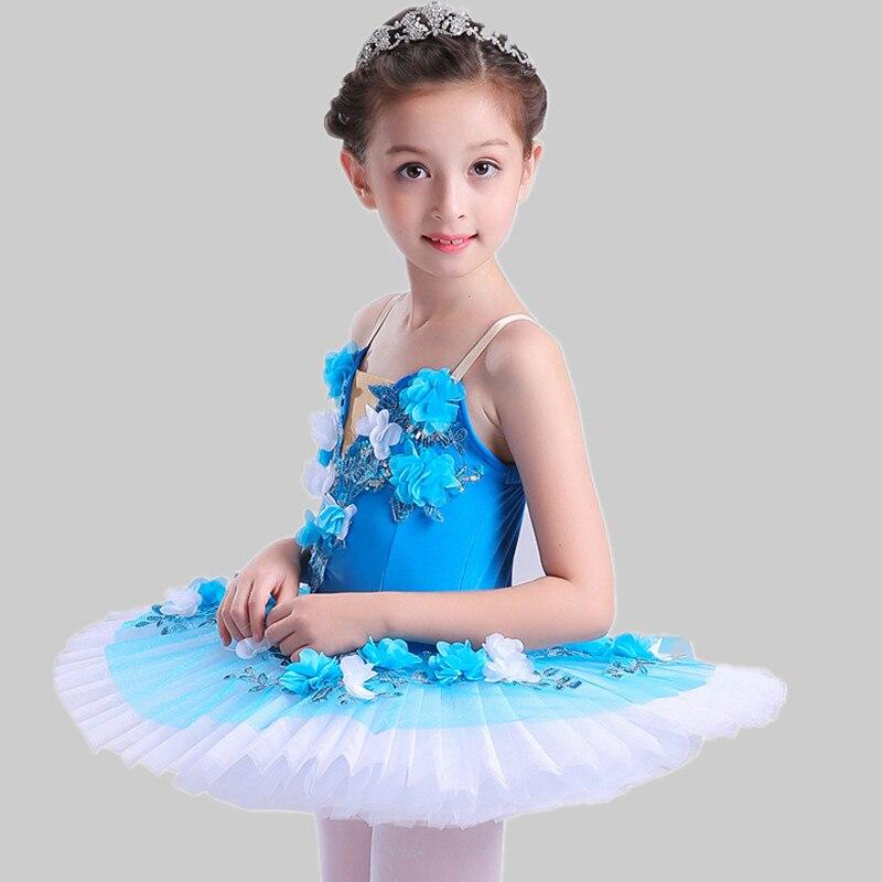 Enfants concours professionnel Ballet Tutus filles enfant cygne lac plateau jupe Performance scène Ballet porter
