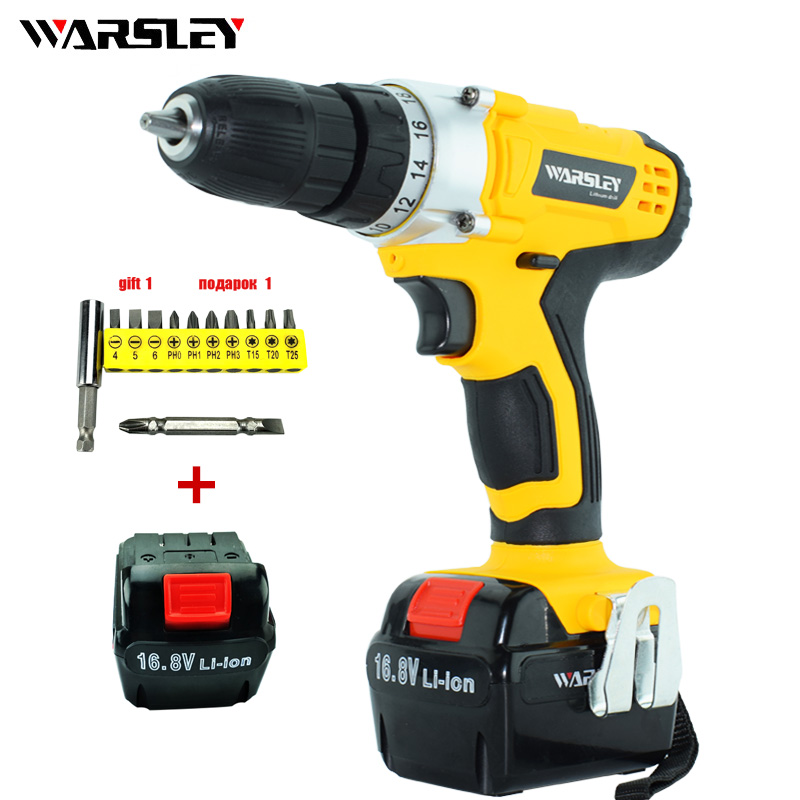 16.8V Electric drill Electric Screwdriver mini battery power drill machine reversible cordless power tools automatic screwdriver tnt express 220v genuine reversible speed hand drill electric screwdriver electric machine electric screw power tool screwdriver