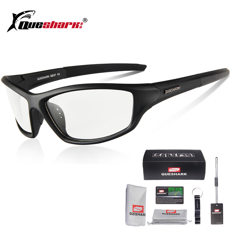 Queshark Photochromic Cycling Eyewear Outdoor Sport MTB Bicycle Sunglasses Goggles
