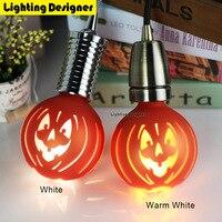 G95 Halloween trang trí bí ngô Edison đèn Led ánh sáng laser bulb glass Giáng Sinh trang trí 220 V 1.8 Wát kỳ nghỉ ánh sáng Màu Cam
