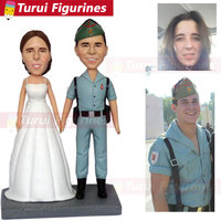 custom head statue buy bobblehead for wedding cake topper armyman soldier wedding figurines decorations home decor personalized
