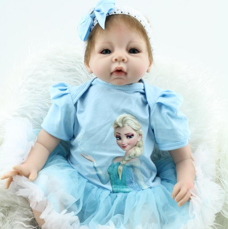 22 inch reborn baby Beb reborn baby doll lifelike soft silicone vinyl real gentle touch Silicone Reborn Baby Dol children's toys