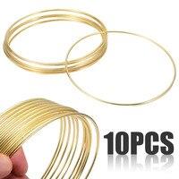 10pcs/set 2.8*150mm Gold Dream Catcher Dreamcatcher Material Metal Rings Hoops Folk Art Dream Catcher Craft Accessories