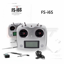 Flysky FS-i6S 2.4G 10CH AFHDS 2A RC Transmitter With FS-iA6B Receiver Remote Control For Eachine Racer 250 Quadcopter Airplane