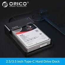 ORICO 2,5 HDD de 3,5 pulgadas caso SATA a USB 3,1 Gen2 tipo C SSD adaptador de alta velocidad HDD caja disco externo del caso del recinto