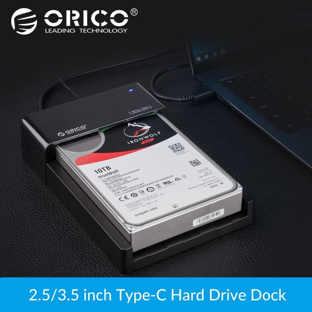 ORICO 2.5 3.5 pouce HDD Cas SATA À USB 3.1 Gen2 Type C SSD Adaptateur Haute Vitesse HDD Boîte Dur disque Externe Boitier