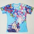 Топ Горячей! шар Летающий Дом 3D Футболки женщины/мужчины повседневная футболка популярные высокое качество печати футболки T217 бесплатная доставка