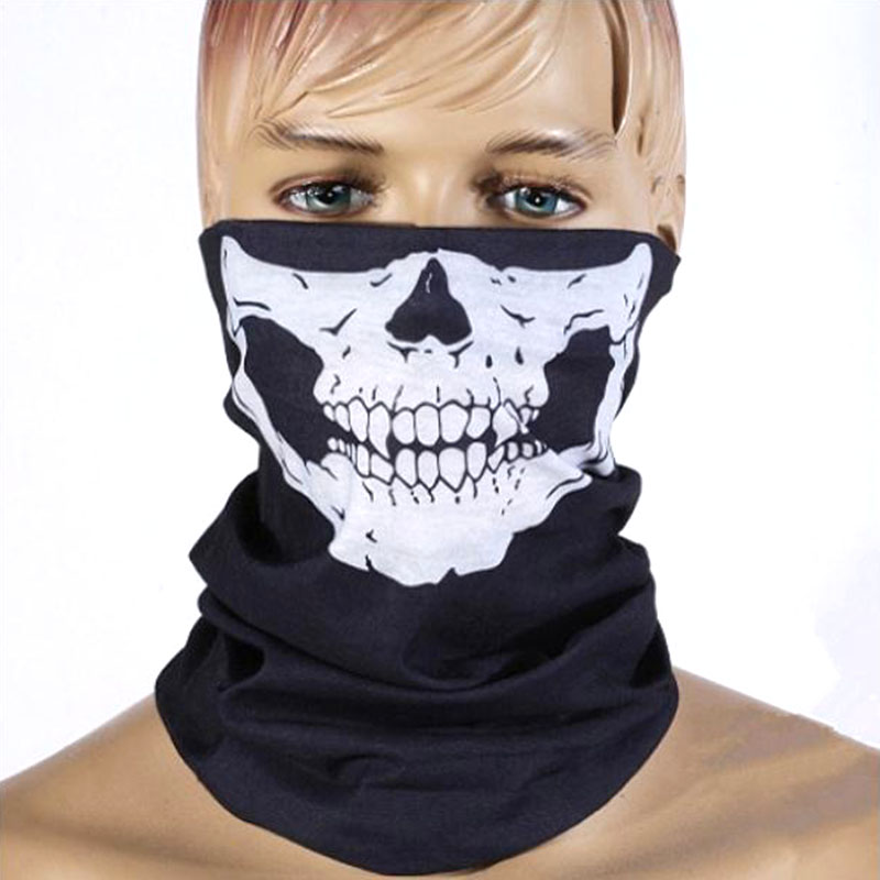 Scarf Dust-Mask Half-Face-Mask Skull Breathable 25x50cm Neck-Warmer Ghost Multi-Use HOT