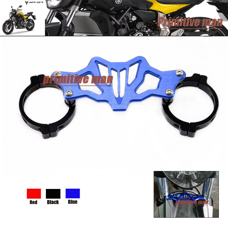Подробнее о For YAMAHA MT-07 MT07 MT 07 FZ07 FZ 07 FZ-07 2014-2016 Motorcycle Accessories Balance Shock Front Fork Brace Blue for yamaha mt07 fz07 mt 07 fz 07 2014 2015 motorcycle cnc billet aluminum front fork cover caps free shipping