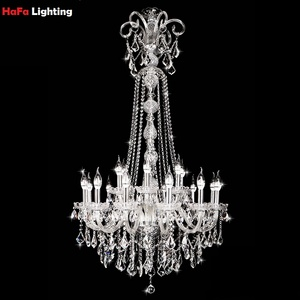 Image 2 - Long Stair Chandelier Crystal Large Foyer Light Modern Fashion Living Room Dining Hall Complex Staircase Lighting chandelier