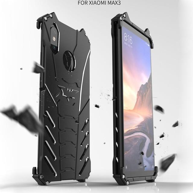 san francisco ac24a db19d US $14.55 33% OFF For Xiaomi Mi Max 3 Case R JUST Batman Luxury Aluminium  Metal Case For Xiaomi Mi Max 3 6.9