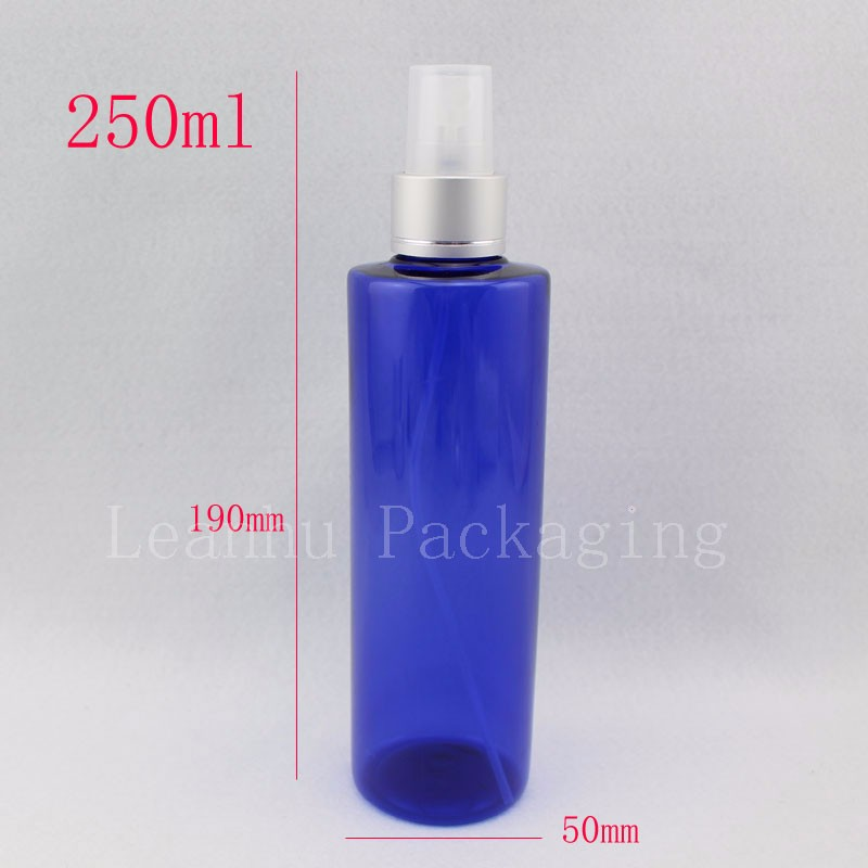 250ml-blue-bottle-with-silver-spray