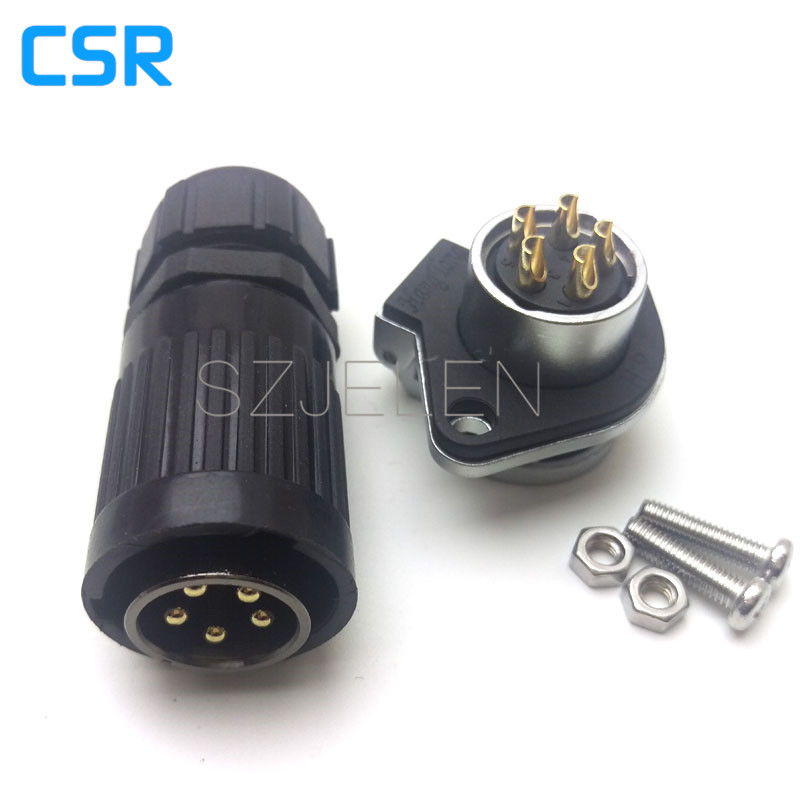 HP20 series,5 pin Male and Female Plug Socket Industrial Connectors, Cable Connector 5 pin, Rated current 30A 1pcs gx20 5 pin male