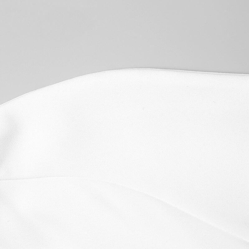 2 조각 세트 사무실 숙녀 바지 정장 여성 작업복 정장 스탠드 칼라 불규칙한 셔츠 + 하렘 바지와 새시 ab171-에서여성 세트부터 여성 의류 의  그룹 3