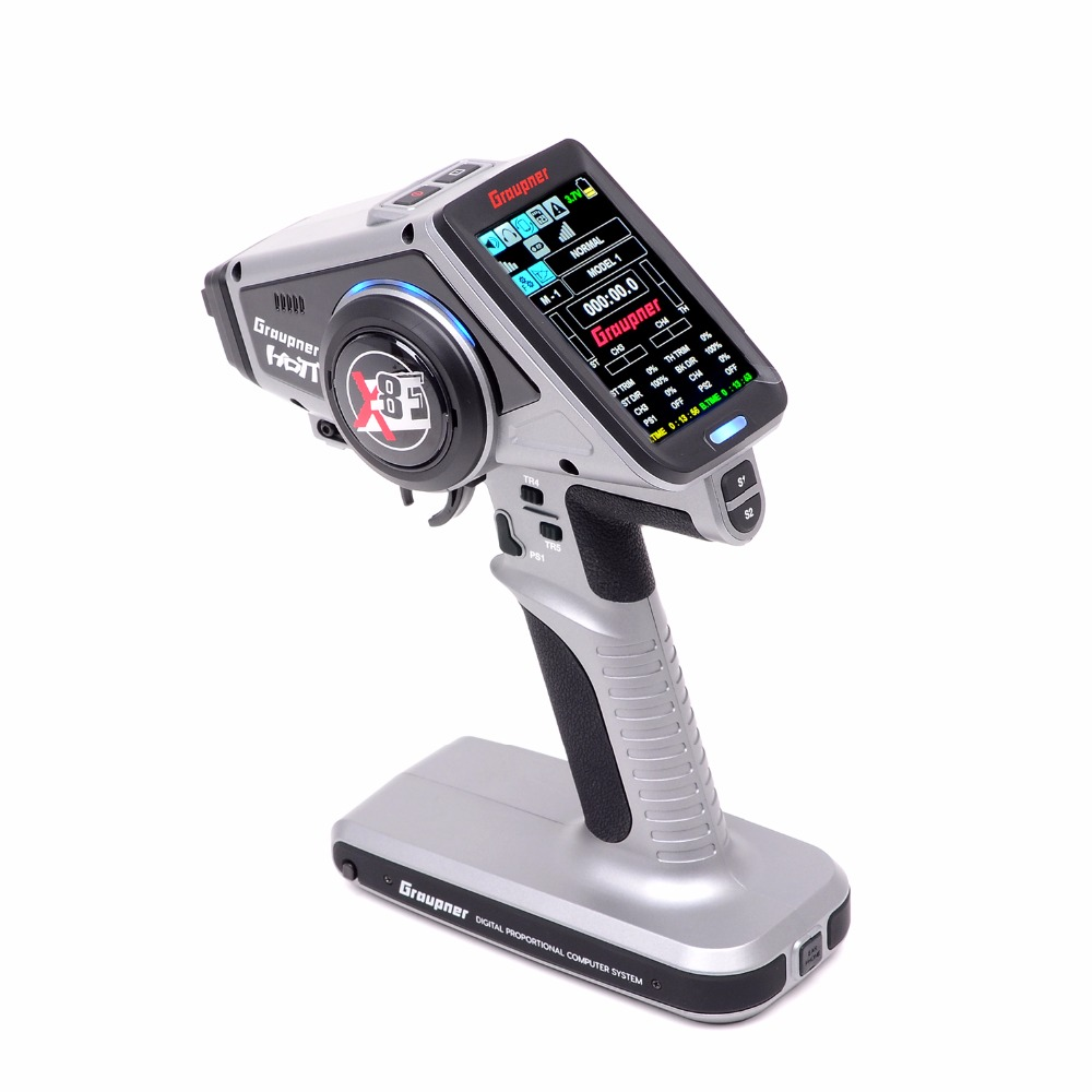 Graupner X-8E 4 Channel 2.4GHz HoTT Color TFT Surface Radio free shipping graupner des 708 bb mg