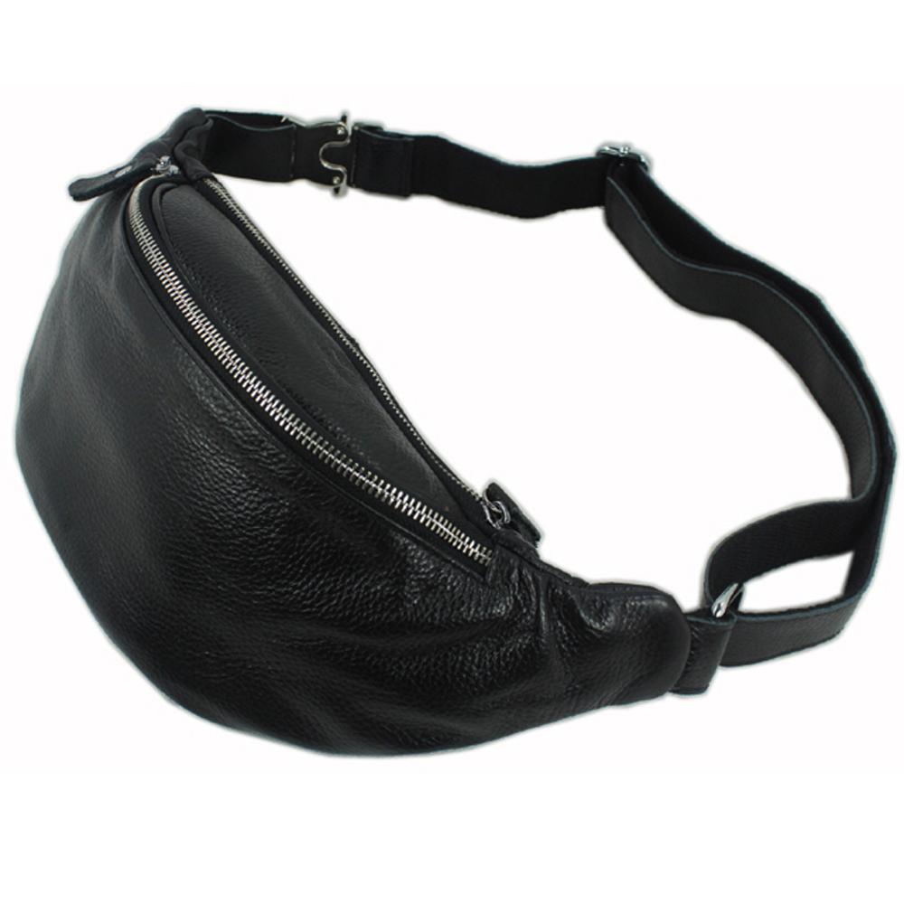 Messenger Bag For Men Sport Belt Bag Fashion Genuine Leather Waist Bag For Men Fanny Pack Free shipping timbuk2 rogue carbon fire