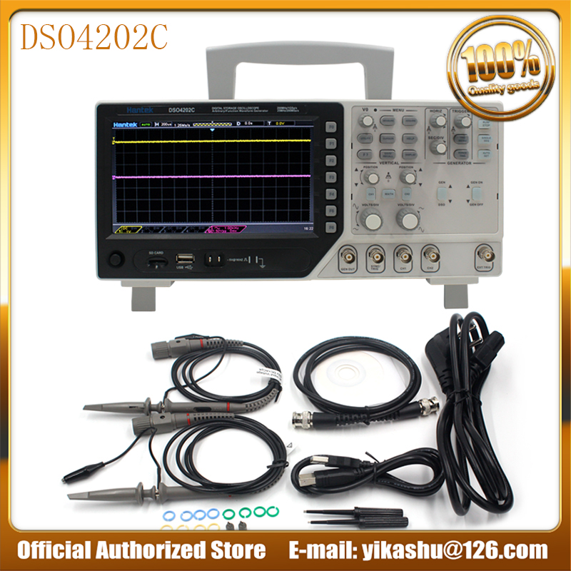 Hantek DSO4202C   Hot 2 Channel Digital Oscilloscope 1 Channel Arbitrary/Function Waveform Generator 200MHz 40K 1GS/s