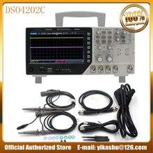 Hantek DSO4202C Горячая 2 канальный цифровой осциллограф 1 канал произвольный/функциональный генератор сигналов 200 МГц 40 к 1GS/s