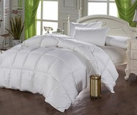 high quality cotton fabric Duck down filling white winter twin size 150x200cm quilt comforter duvet